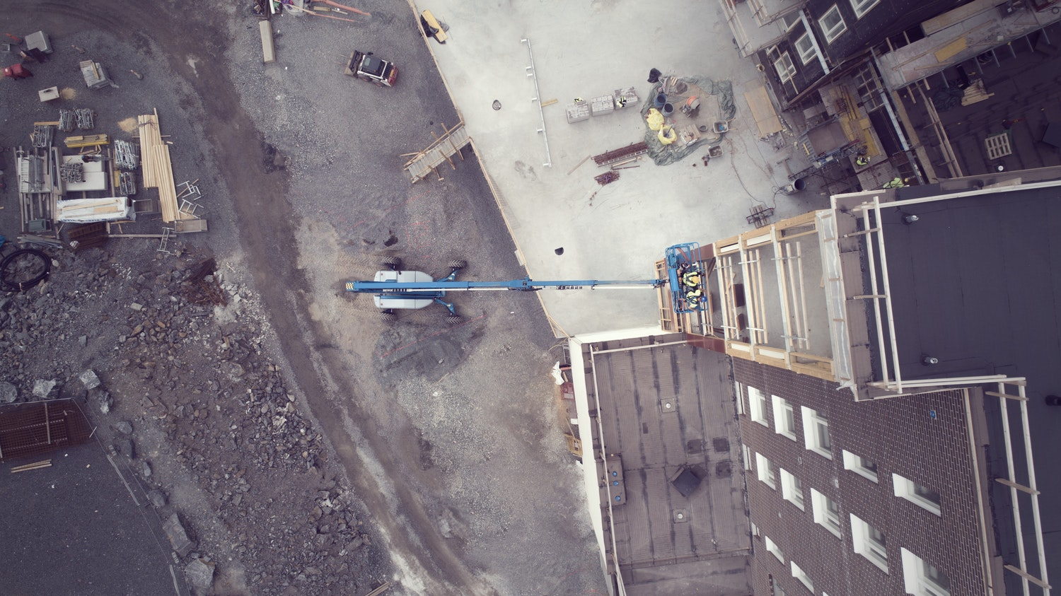 Bird's view from a construction site.