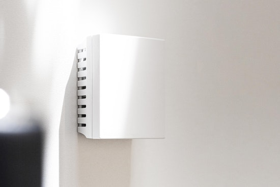 Sensor on a wall.