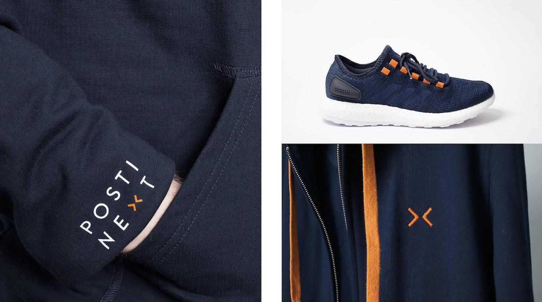 Posti Next brand elements.