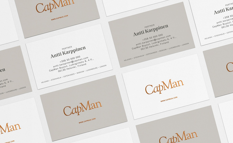 CapMan business cards.