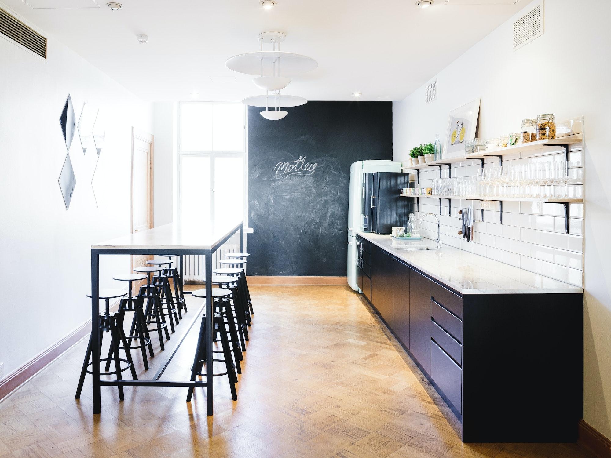 Motley office kitchen.