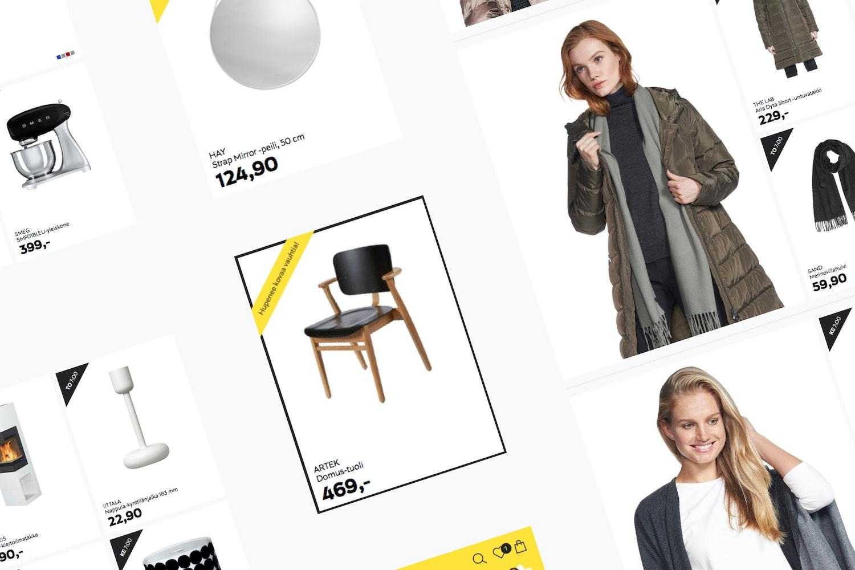 Screen captures from the Hullut Päivät website.