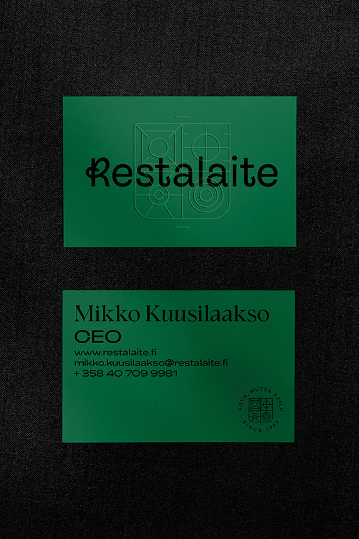 Restalaite business cards.
