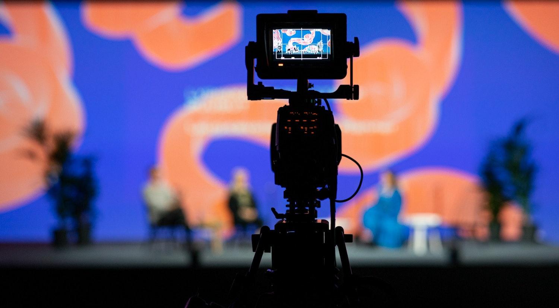 Messukeskus program being filmed