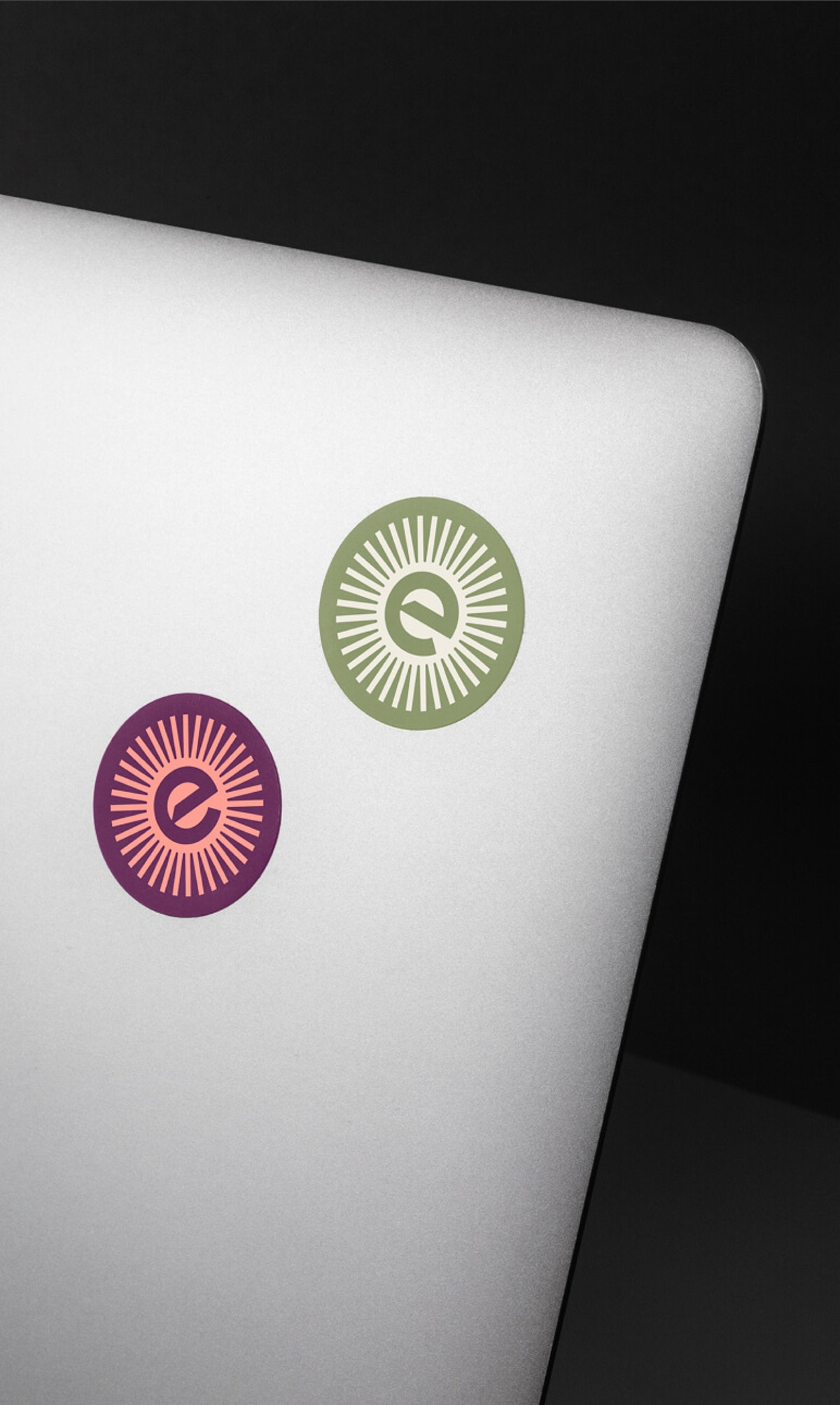 New Enerim stickers on a laptop